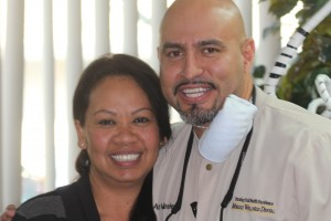 Actual Patient of Mirelez Dental in Fresno with dental implants